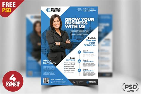 Free Business Flyer Psd Template Download