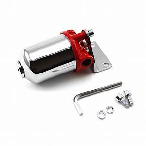 Chrome Fuel Filter With Replaceable Element