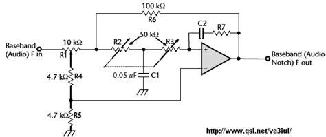 notch filter design electronic filter circuit diagrams circuit schematics