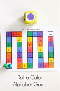 roll a color alphabet game With letter recognition board games
