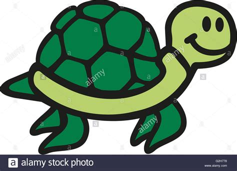 Swimming Cartoon Turtle Cute Stock Photo, Royalty Free