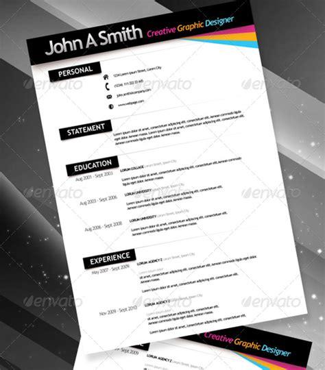 Cheap Resume Templates by 28 Creative Cheap Resume Templates Nextdayflyers