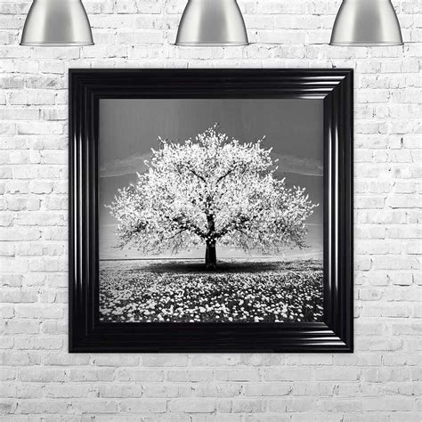 Shall cabin decore cherry blossoms wall decor nock upon > the iowan of comedians glory: WHITE CHERRY TREE FRAMED WALL ART BY SHH INTERIORS - 75CM X 75CM   1Wall