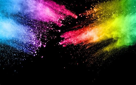 wallpaper colorful paint splash rainbow colors abstract