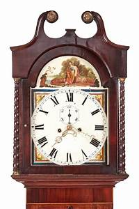 Antique, Oak, And, Mahogany, Inlaid, 8, Day, Grandfather, Clock, For, Sale, At, 1stdibs