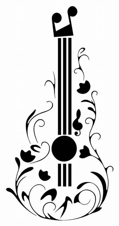 Guitar Stencil Fancy Reuseable Notes Musical Drawing