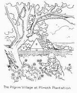 Plantation Plimoth Coloring Template sketch template