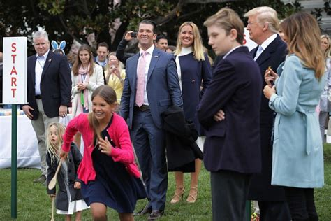 trump barron nephews nieces most trumps easter egg hunt plus behind