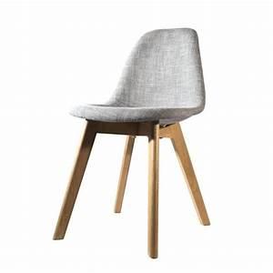 But Chaise Scandinave : chaise scandinave en tissu grise achat vente chaise soldes d hiver d s le 11 janvier ~ Teatrodelosmanantiales.com Idées de Décoration