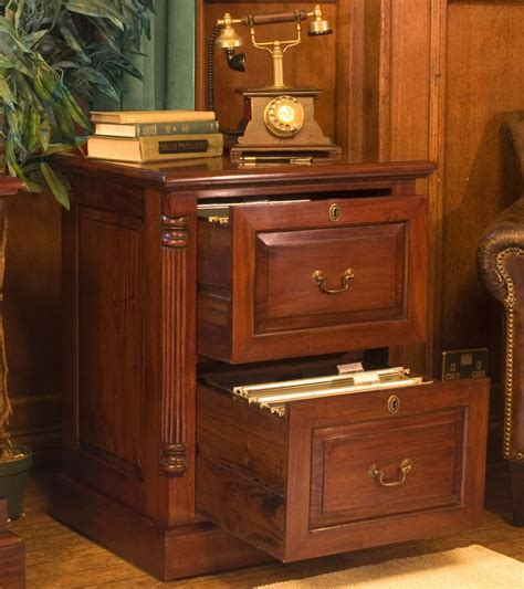 La Roque Mahogany Two Drawer Filing Cabinet Was £600.00