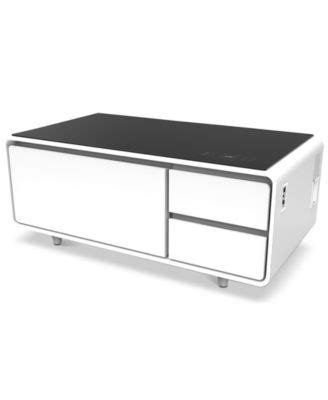 Find out the detailed photo here. Sobro Smart Coffee Table With Refrigerated Drawer Wood