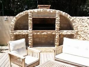 construire un barbecue en pierre barbecues argentins With cuisine d ete en pierre