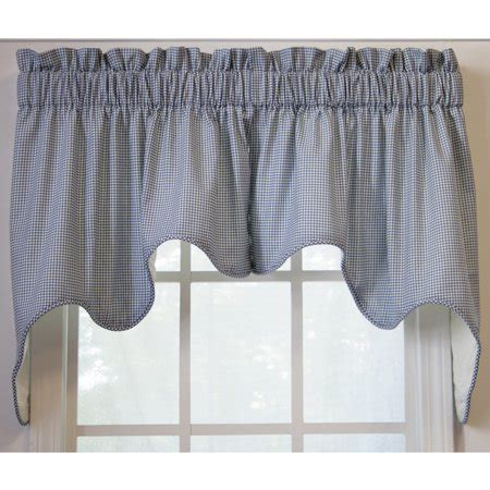 Solid Gray Valance by Ellis Curtain Logan Check 2 High Quality Room
