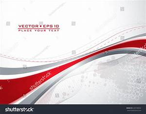 Abstract Gray Template Red Wavy Lines Stock Vector ...