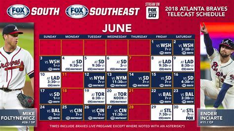 Atlanta Braves TV Schedule: June | FOX Sports