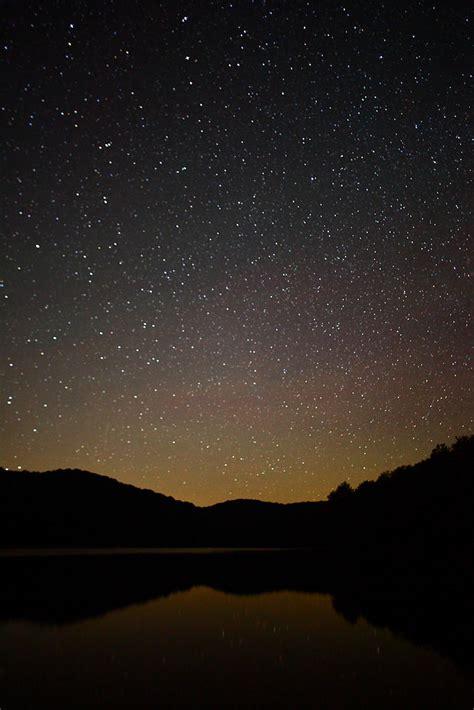 filestars   night sky reflecting  summit lake