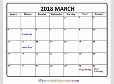 March 2018 Calendar Victoria kalendaryo HD