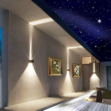 12w led wall lights outdoor indoor sconce l up adjustable dimmable ip65 ebay