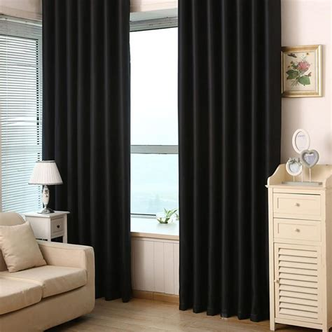 black curtains for bedroom 2pcs black out curtain living bedroom curtain grommet 14576