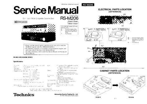 Technics Rsm206 Service Manual Download, Schematics