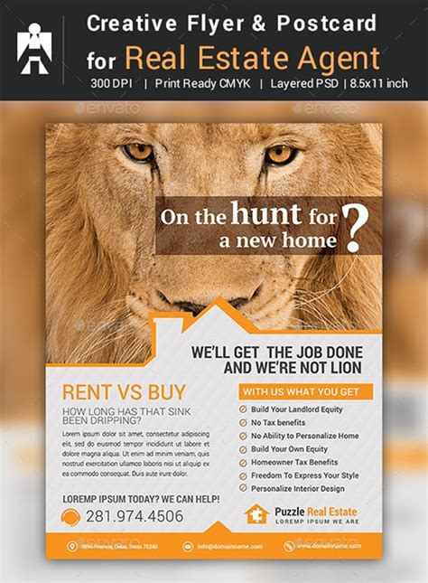 real estate marketing postcard templates sample