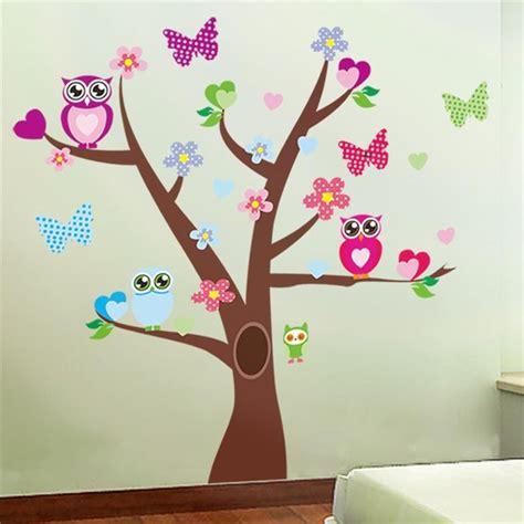 aliexpress com comprar lindo búhos árbol pegatinas de pared para la decoración de la habitación