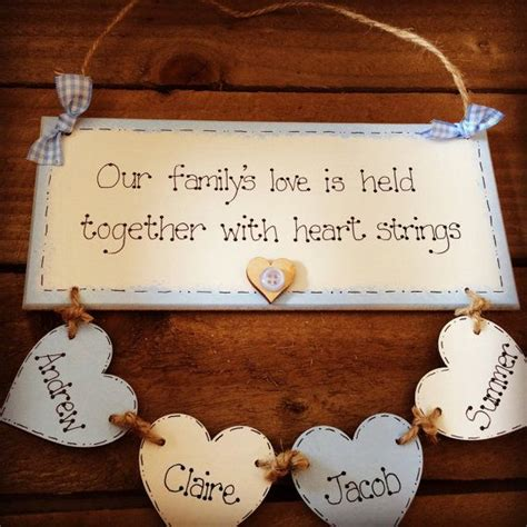 shabby chic personalised wooden plaque personalised family plaque with hearts keepsake shabby chic home decoration keepsakes wooden