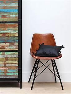 Chaise Industrielle Cuir : chaise industrielle en bois et m tal cuir made in meubles ~ Teatrodelosmanantiales.com Idées de Décoration