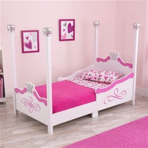 kidkraft princess toddler bed silver modern kids