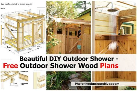 plans to build an outdoor bathroom beautiful diy outdoor shower free outdoor shower wood plans