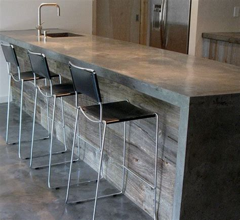 poured concrete countertops barn wood bar stools woodworking projects plans