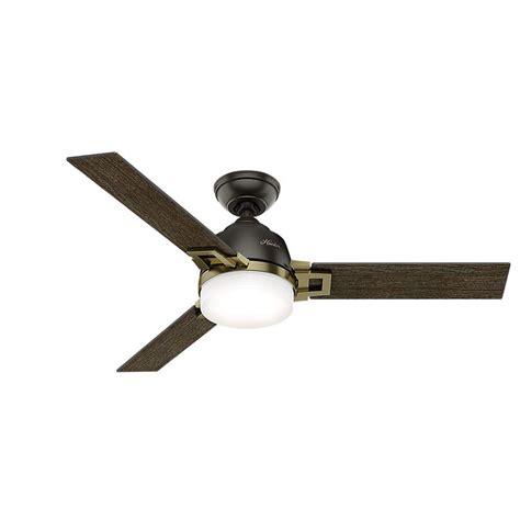 modern ceiling fans home depot hunter leoni 48 in led indoor noble bronze and modern