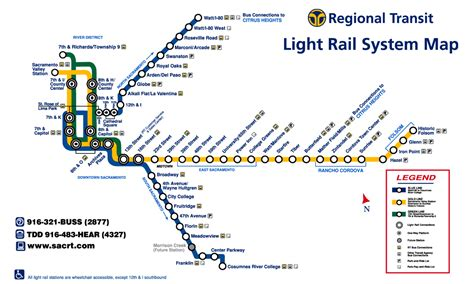 sacramento light rail map 507 gold line