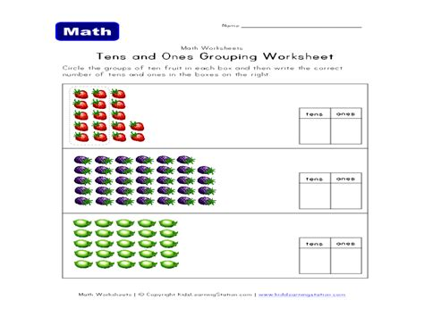 Click one of the tens and ones worksheets below to go to its corresponding download page. Tens and Ones Grouping Worksheet for 1st - 2nd Grade | Lesson Planet