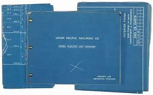 Union Pacific Railroad Co  Blueprints Of Diesel Electric