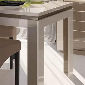Table Laqué Blanc : table a manger taupe maison design ~ Teatrodelosmanantiales.com Idées de Décoration