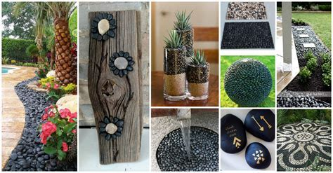 16 Extraordinary Black Pebbles Decor Ideas