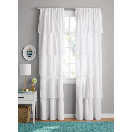 walmart bedroom curtains your zone ruffle bedroom curtain walmart