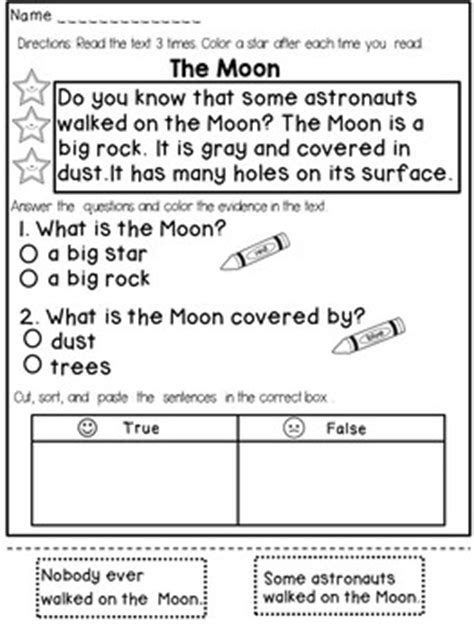 First Grade Reading Comprehension Passages By Dana's Wonderland  Teachers Pay Teachers