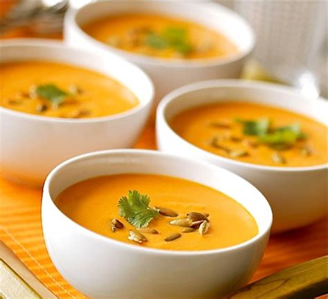 recette soupe des   carottes coco curry coriandre
