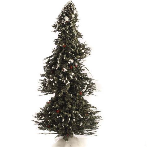 miniature flocked bottle brush christmas tree