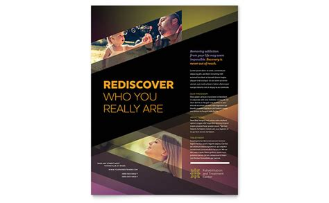 rehab center flyer template design
