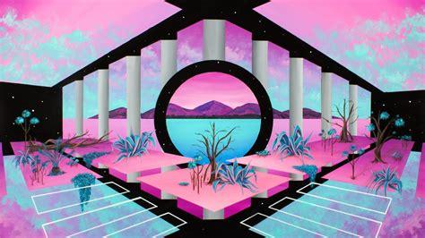 wallpaper retrowave vaporwave abstract pink wallpaper