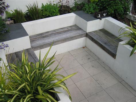 landscape seating modern courtyard garden katherine edmonds garden design