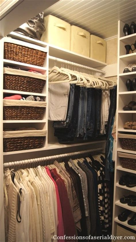 How To Organize Your Clothes In A Small Closet by Master Closet Makeover Part 1 Confessions Of A Serial