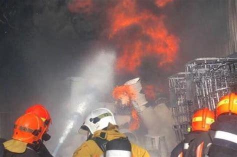 huge fire  tuas waste management plant extinguished