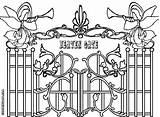 Heaven Coloring Gate Gates Drawing Heavens Colorings Getdrawings Printable Heavenly sketch template