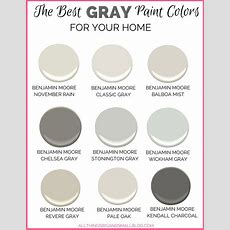 Gray Paint Colors For Your Home  (best Benjamin Moore