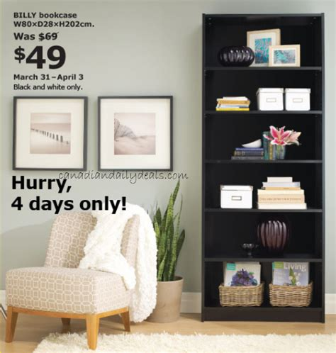 Canadian Daily Deals Ikea Canada Billy Bookcase $49 (mar