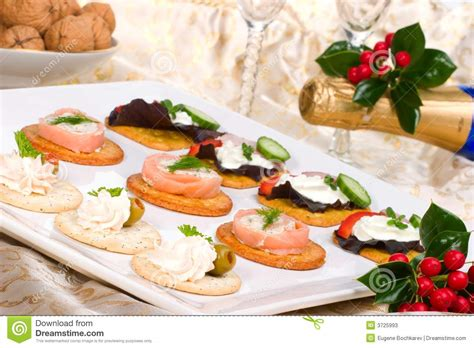 fresh canapes tray of fresh canapes stock photos image 3725993